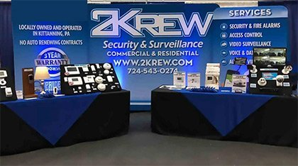 2 Krew Security and Surveillance booth